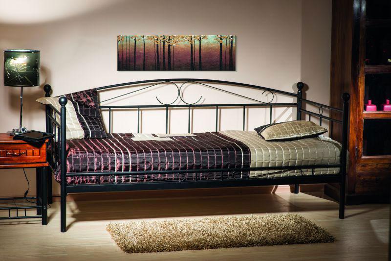 ANKARA kovová posteľ, čierna