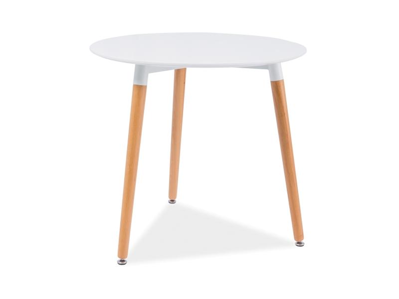 NOLAN okrúhly jedálenský stôl, buk/biela