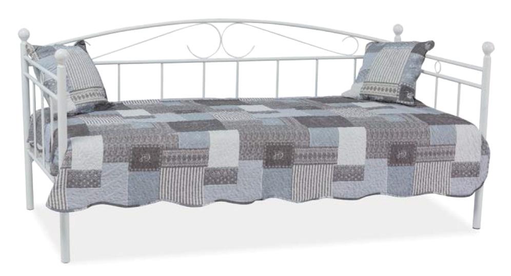 ANKARA kovová posteľ, biela