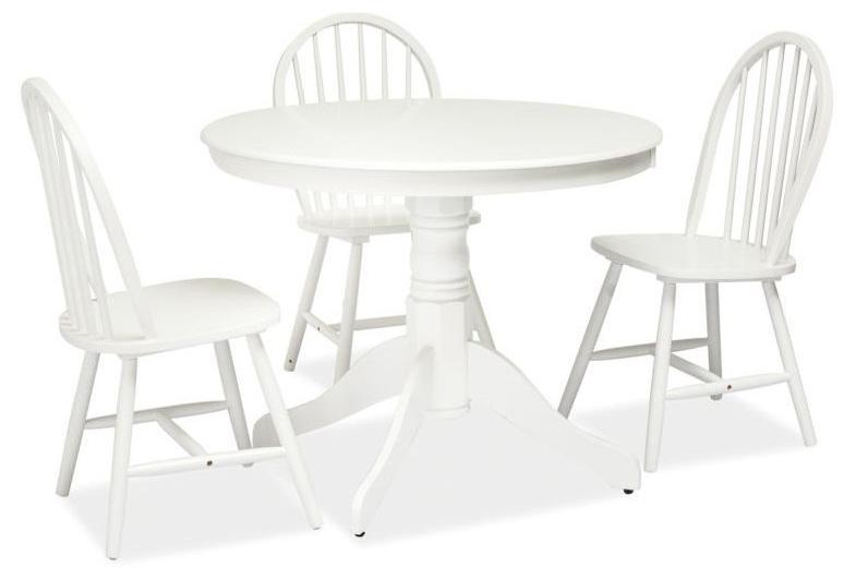 WINDSOR okrúhly stôl, biely